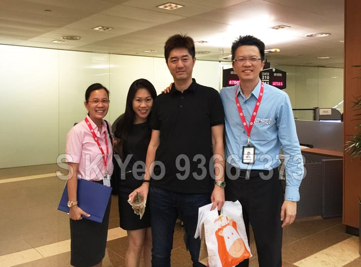 Jason & Lynn ( HDB Property Sellers ) with S.K.Yeo and Jacqueline