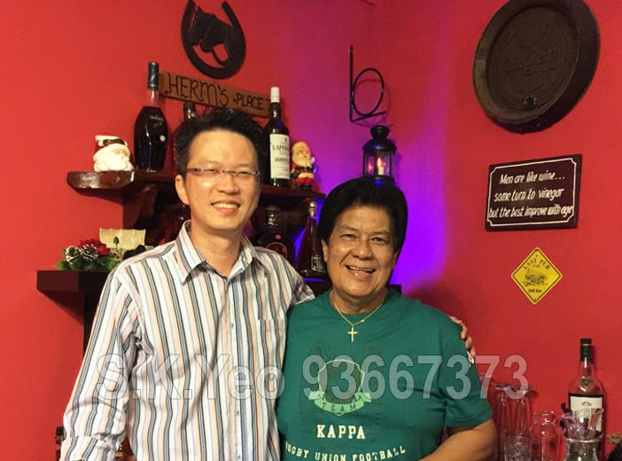 Mr Herman (HDB Property Seller) with S.K.Yeo