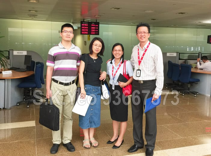 Mr & Mrs Xiao ( HDB Property Sellers ) with S.K.Yeo and Jacqueline