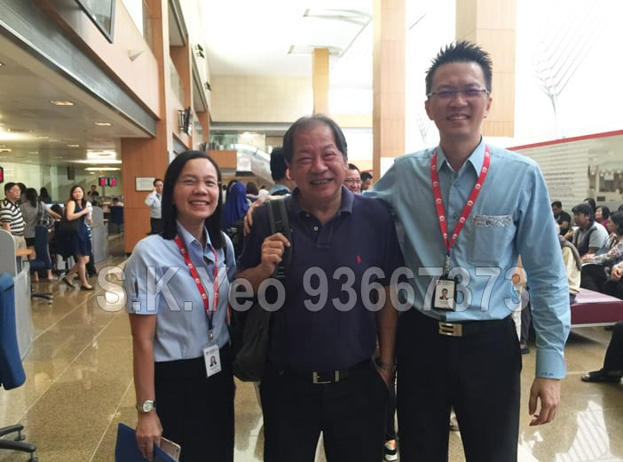 Mr Teng ( HDB Property Seller ) with S.K.Yeo and Jacqueline