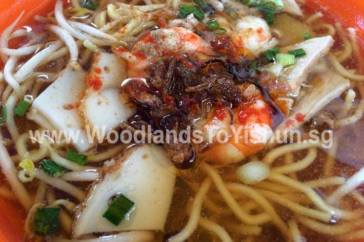 Lai Xing Prawn Noodle Soup at Marsiling Lane Hawker Centre, Woodlands