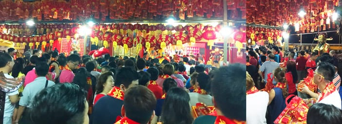Sembawang God of Wealth Temple Crowd