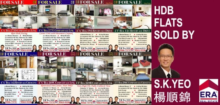 HDB Flats sold by S,K,Yeo