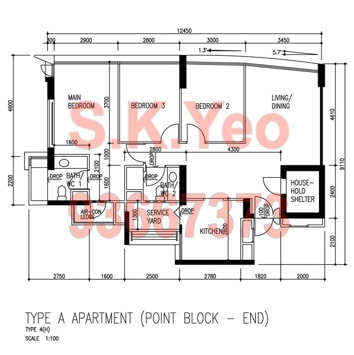 4A-SengKang Blk 273D Compassvale Link Floorplan by S.K.Yeo ERA