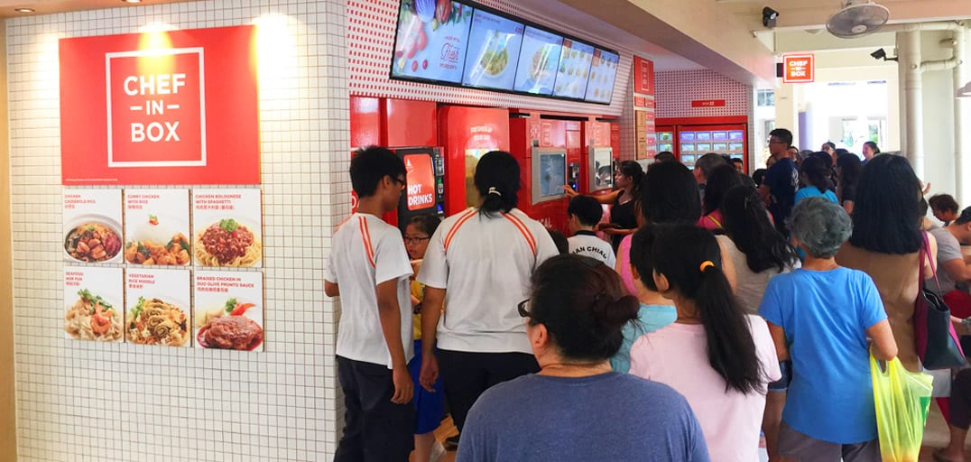 Singapore Very First Vending Cafe Is In Sengkang