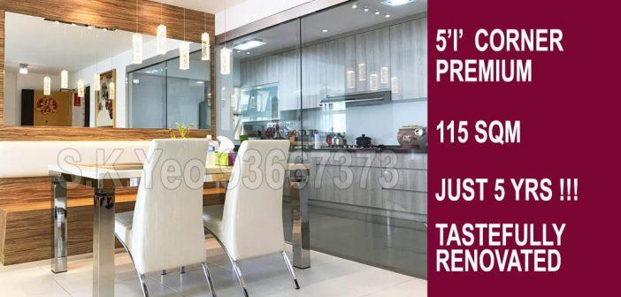 5'I' Sengkang HDB For Sale – Blk 212B Compassvale Drive High Flr by Property Agent S.K.Yeo ERA