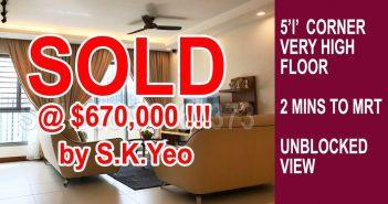 5'I' Punggol HDB For Sale – Blk 271B Punggol Walk SOLD by Property Agent S.K.Yeo ERA