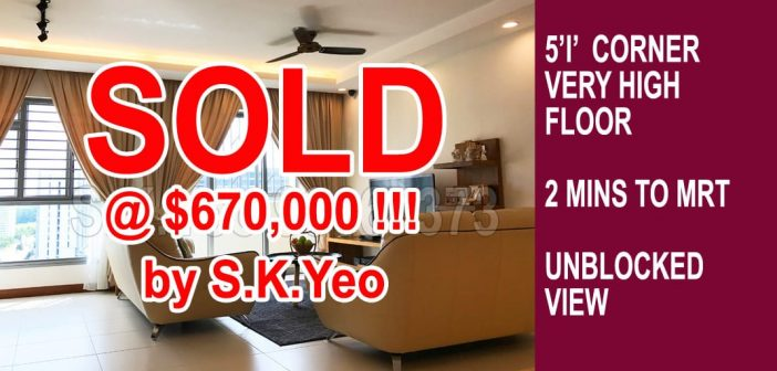 5'I' Punggol HDB For Sale – Blk 271B Punggol Walk SOLD by Property Agent S.K.Yeo ERA