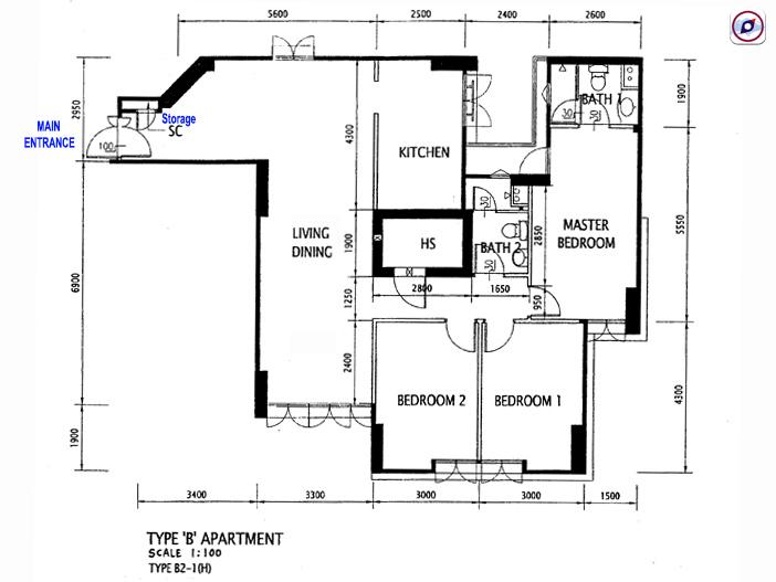 Floorplan-Sengkang-HDB-403D-5room-flat