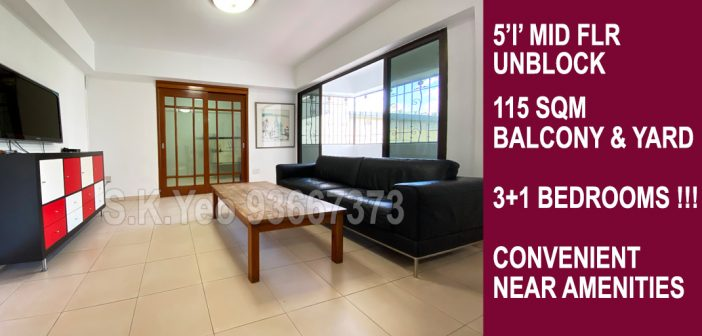 5'I' Sengkang HDB For Sale – Blk 299B Compassvale Street by Property Agent S.K.Yeo ERA