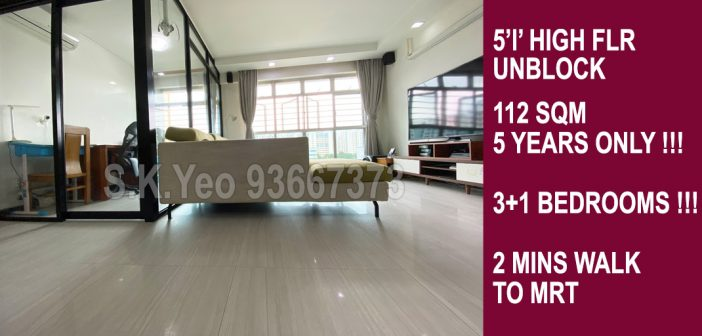 5'I' Sengkang HDB For Sale – Blk 216A Compassvale Drive by Property Agent S.K.Yeo ERA
