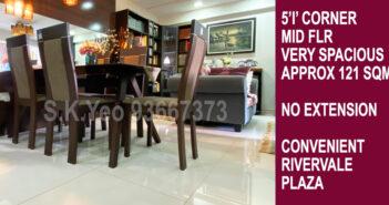 5'I' Sengkang HDB For Sale – Blk 111 Rivervale Walk by Property Agent S.K.Yeo ERA