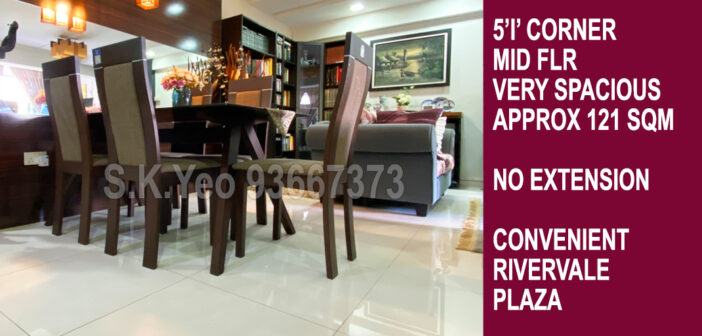 5'I' Sengkang HDB For Sale – Blk 111 Rivervale Walk by Property Agent S.K.Yeo ERA